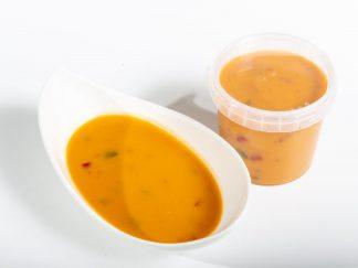 Süßkartoffelsuppen mit Paprika