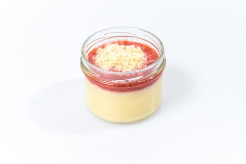 Erdbeerragout auf Mascarponecrème